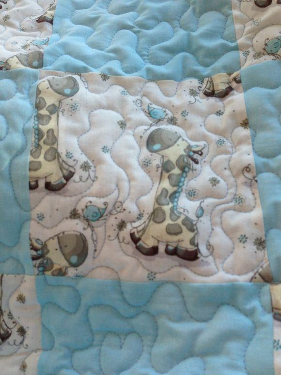 Blue giraffes.