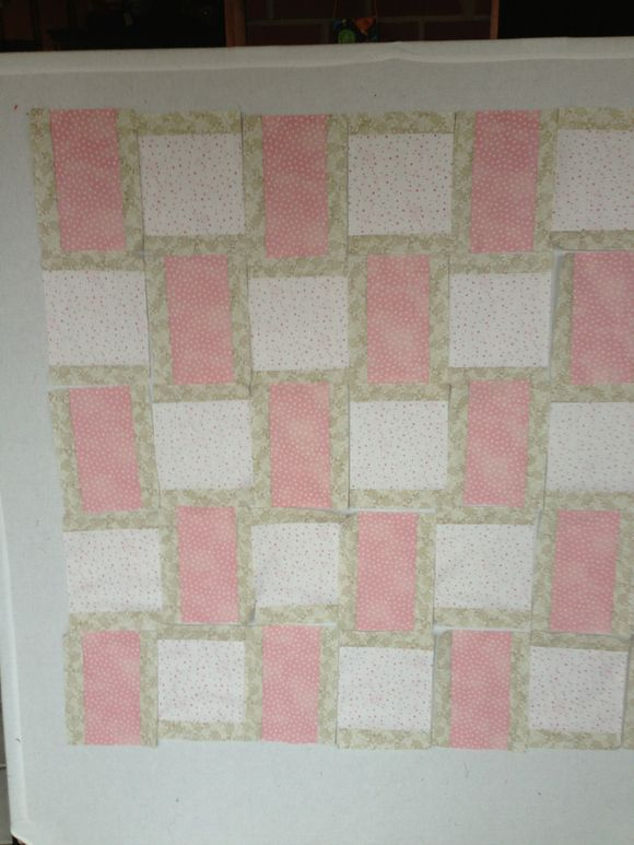 Soft baby girl quilt