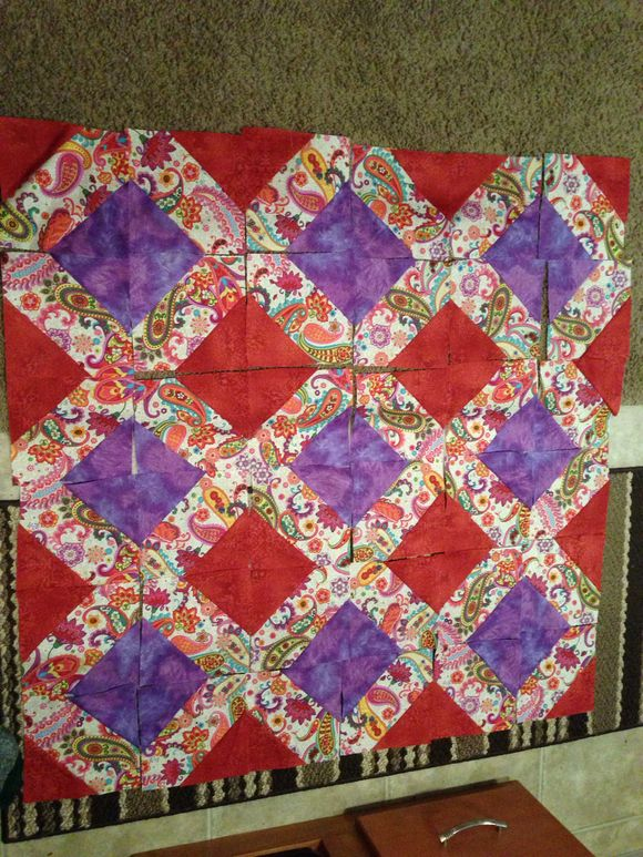 Paisley, Red, and Purple quilt