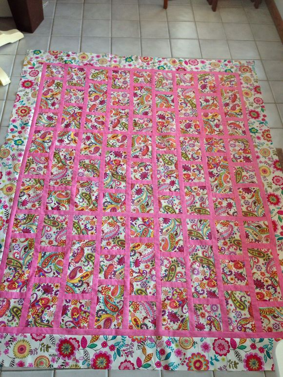 Paisley and pink quilt