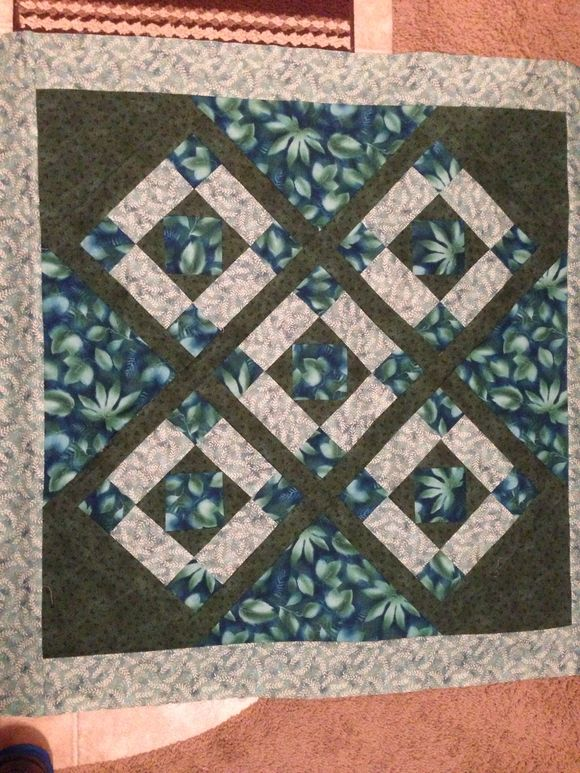 Spring Green Quilt top and a crochet
