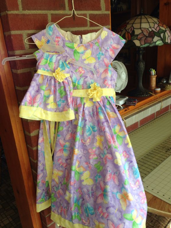 Easter dresses for Granddaughter and her doll